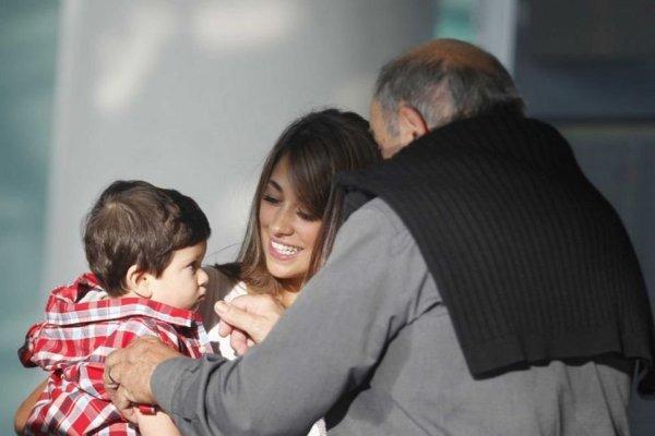 Antonella et Thiago Vol avec Daniella Semaan, Lia et l'équipeà Milan le 21 - 10