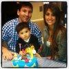 Antonella Roccuzzo, Lionnel Messi et Thiago Messi le 02 - 11