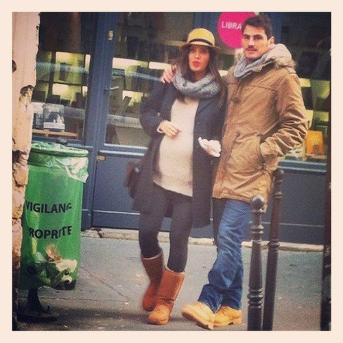 Sara Carbonero et Iker Casillas a Paris le 11- 11