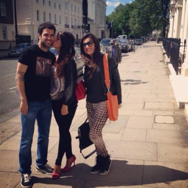 Daniella Semaan, Nathalie et Cesc Fabregas