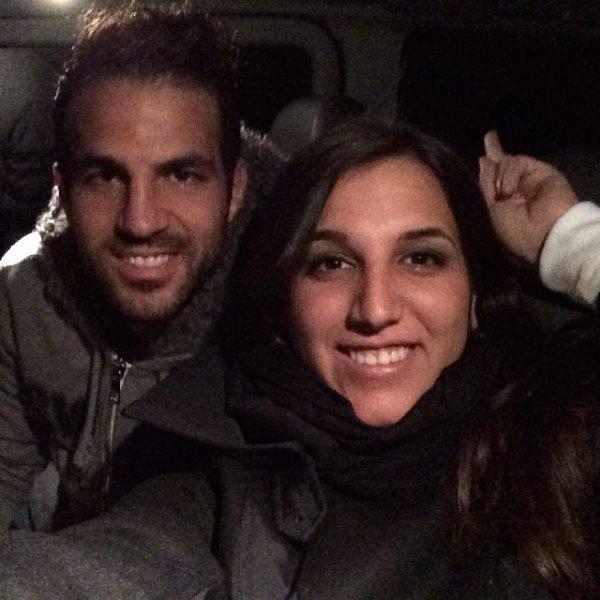 Cesc et Carlota Fabregas le 21 - 11