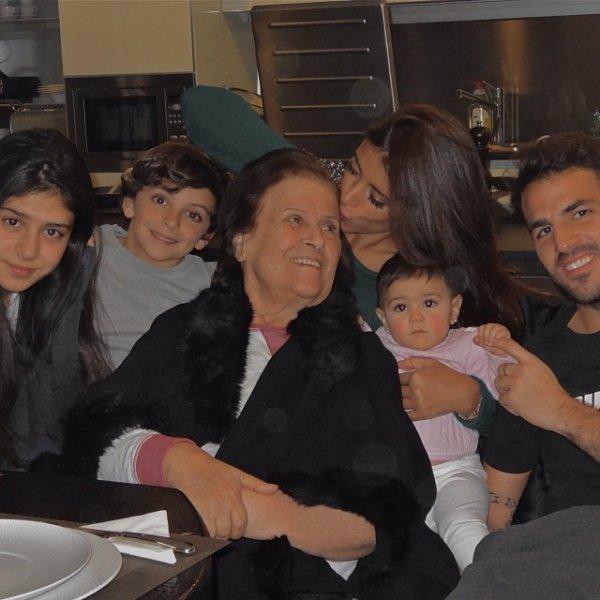 Cesc Fabregas, Daniella Semaan, Maria et Joseph Taktouk, Lia Fabregas et la mére de Daniella le 23 - 11