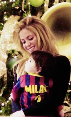 Shakira et Milan le 16 - 12