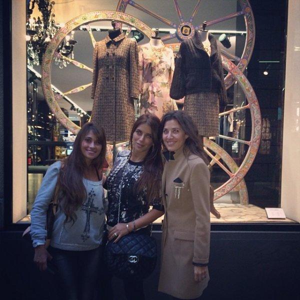 Daniella Seman, Antonella Roccuzzo et Nuria Cunillera a Milan