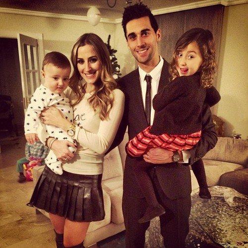 Carlota Ruiz, Alvaro Arbeloa et leur enfants Raul et Alba le 31 - 12