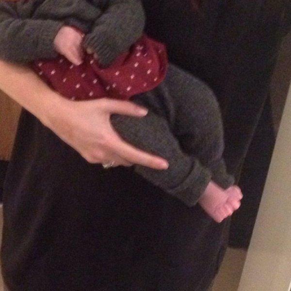 Nagore Aranburu et sa fille Emma le 11 - 01