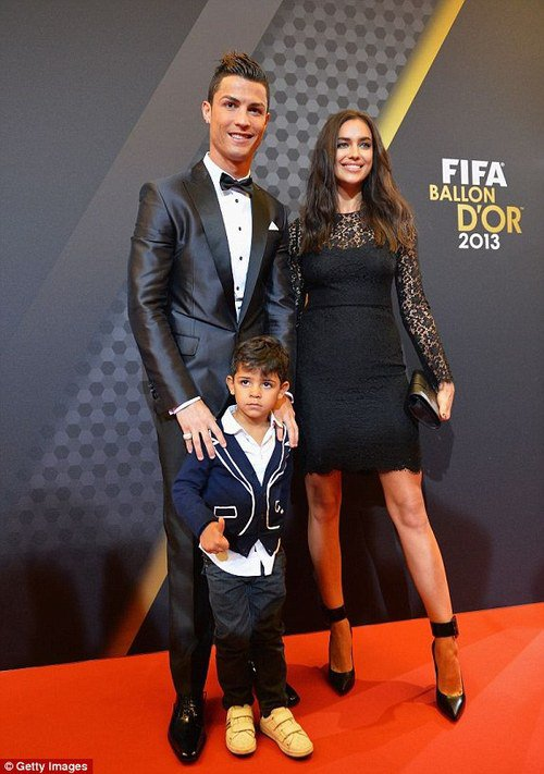 Irina Shayk et Cristiano Ronaldo a la cérémonie du Ballon d'or 2013