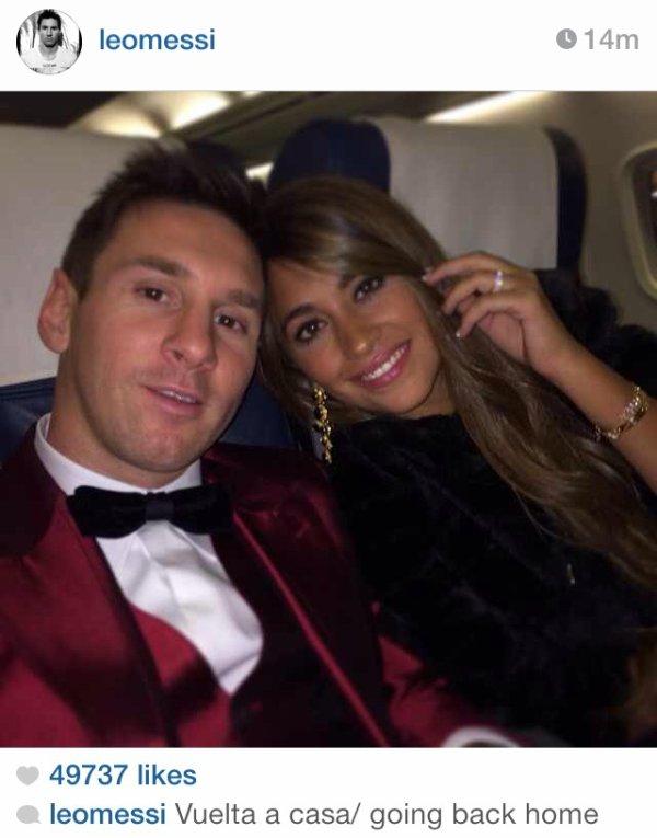 Antonella Roccuzzo et Leo Messi le 13 - 01