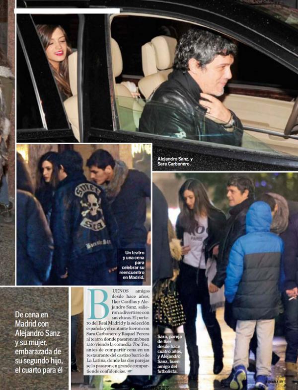 Sara Carbonero, Iker Casillas et Martin