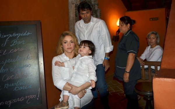 Shakira et Milan le 24 - 02