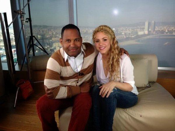 Shakira pendant une interviw a Barcelone le 10 - 03