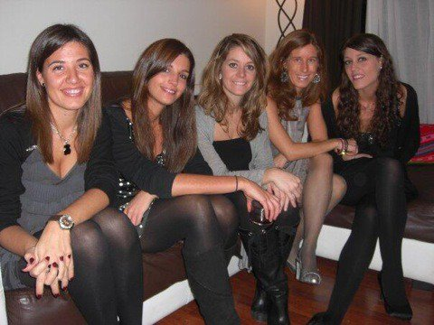 Nuria Cunillera et des amies le 13 - 03