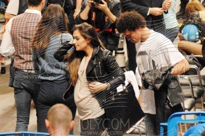 Ana Sofia Moreira et Pepe lors du mach de Basket