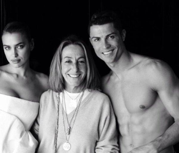 Irina Shayk et Cristiano Ronaldo lors d'un shooting pour Vogue le 28 - 03