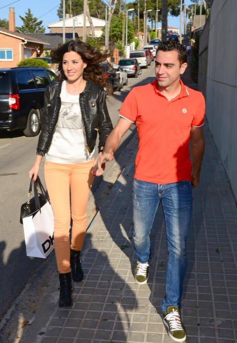 Nuria Cunillera et Xavi Hernandez a l'anniversaire de Lia Fabregas le 10 - 04