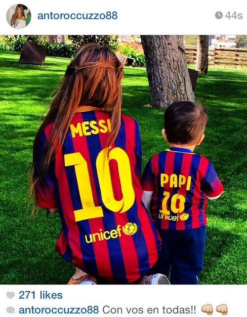 Antonella Roccuzzo et Thiago Messi le 20 - 04