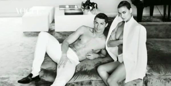 Irina Shayk et Cristiano Ronaldo pour Vogue Spain