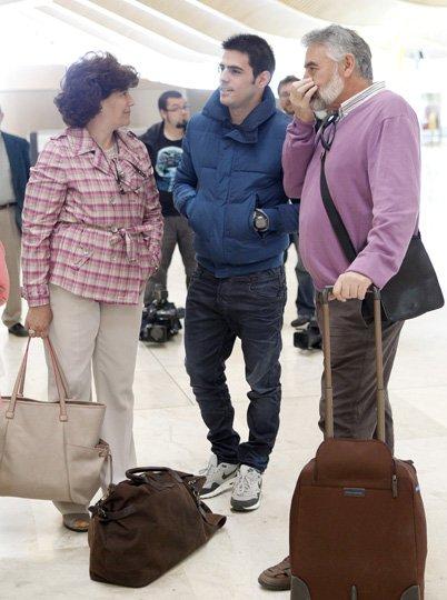 Jose Luis, Carmen et Unai Casillas le 23 - 05 a Lisbon