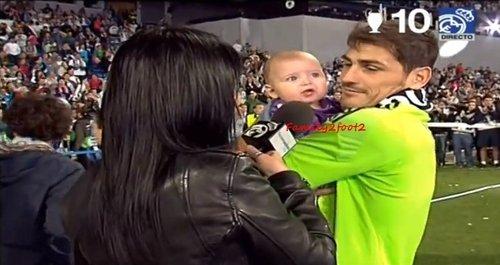 Iker et Martin Casillas au Bernabeu le 25 - 05