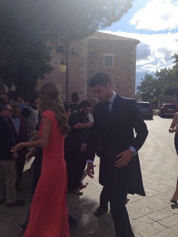 Maria Pombo et Alvaro Morata au mariage de Nacj et Maria Fernandez le 31 - 05