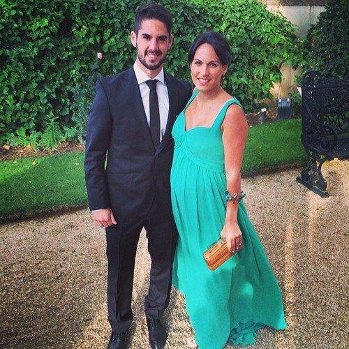 Victoria Calderon et Isco au mariage de Maria et Nacho Fernandez le 31 - 05