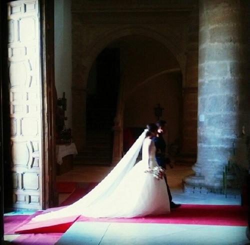 Maria Cortes et Nacho  Fernandez a leurs mariage le 31 - 05