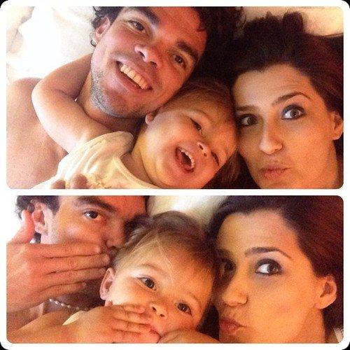 Ana Sofia Moreira, Pepe et leurs fille Angelie le 12 - 06