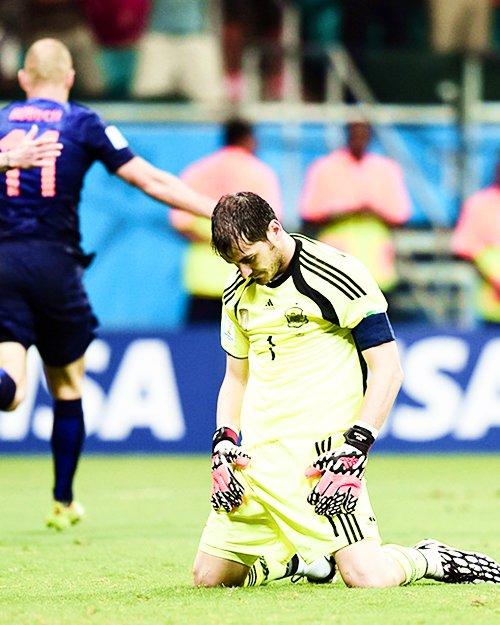 Iker Casillas lors du match Espagne - Pays Bas le 13 - 06