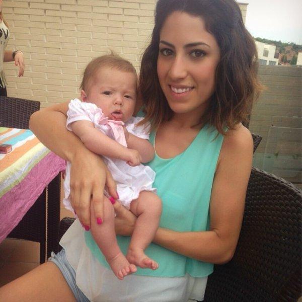Carlota Tello Lopez et sa tente Elizabeth le 12 - 06