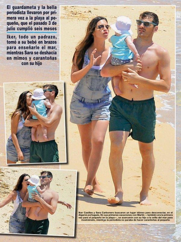 Sara Carbonero, Iker Casillas et Martin en vacances au Portugal