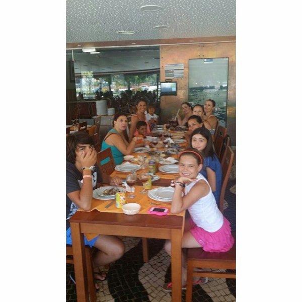 Katia Aveiro, Elma Aveiro, Cristiano Junior et leurs famille