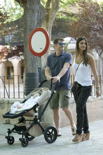 Sara Carbonero, Iker et Martin Casillas le 13 - 07