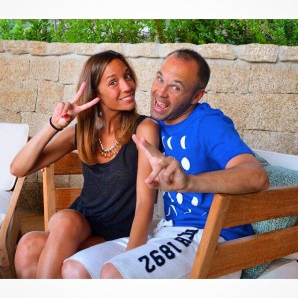 anna Ortiz et Andres Iniesta le 20 - 07