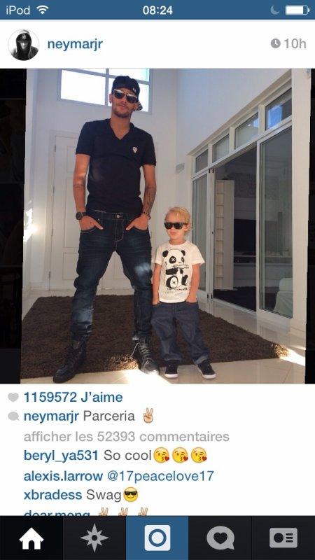 Neymar et Davi Lucca - 20/07