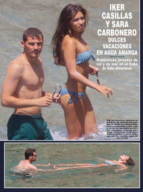 Sara Carbonero et Iker Casillas pendnat leurs vaccances