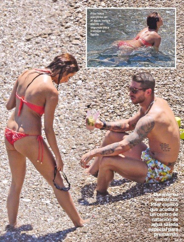 Pilar Rubio et Sergio Ramos pendant leurs vacances le 17 - 07