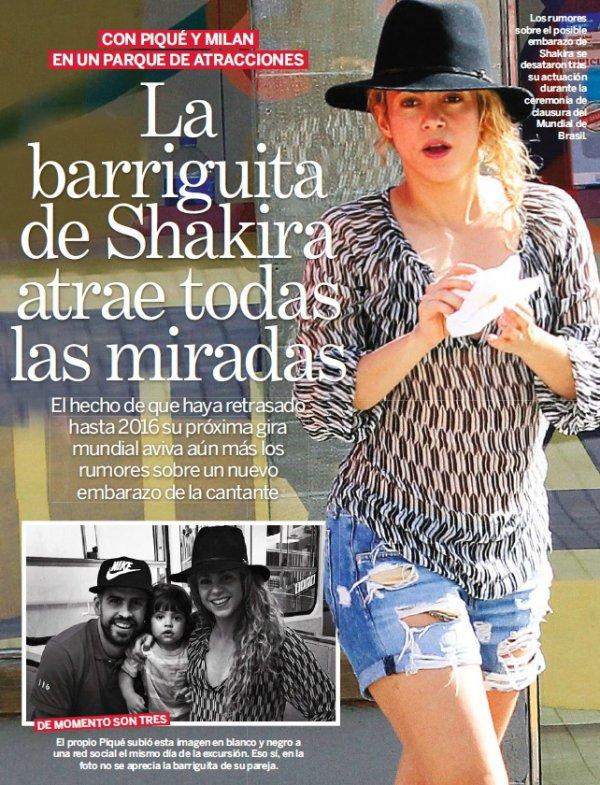 Shakira, Gerard et Milan Piqué a Barcelone