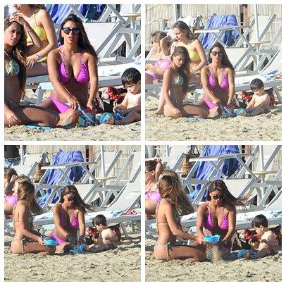 Antonella Roccuzzo, Daniella Semaan et Thiago Messi le 31 / 07