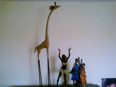 giraffe, statue
