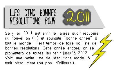 __Inside-Tendances ♥ ___+ Bonnes résolutions mode pour 2011