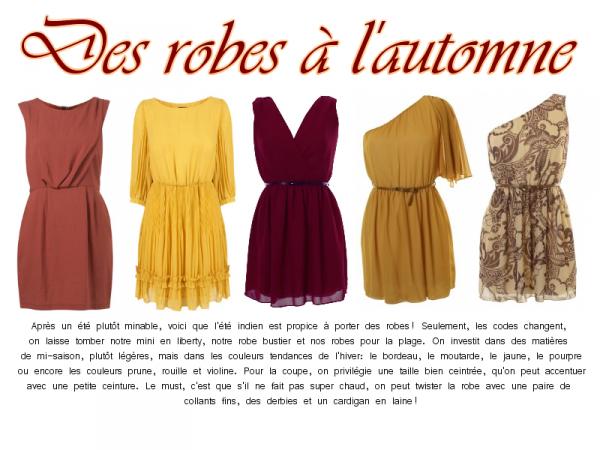 Séléction d'automne / Des robes à l'automne