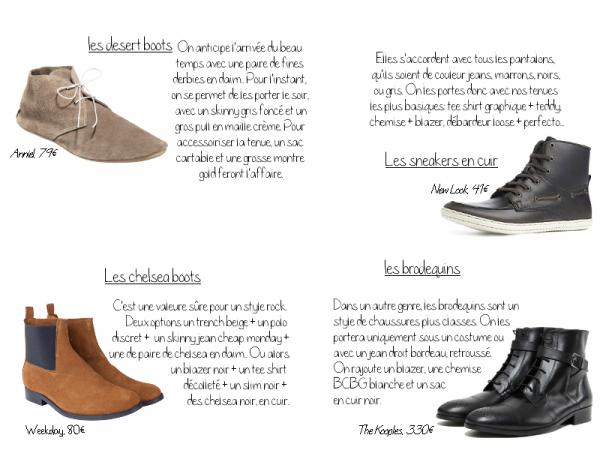SPECIAL HOMME   |     Séléction chaussures