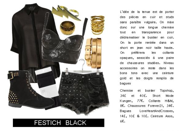 Tenue du mois de Décembre - Fetish Black