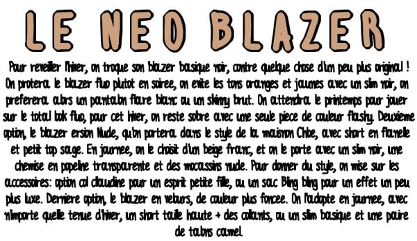 Tendances - Le néo Blazer