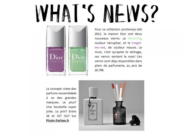 Beauté - What's News?