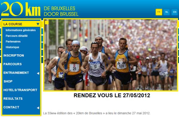 Les inscriptions pour les 20 km de Bruxelles sont déjà complètes ...