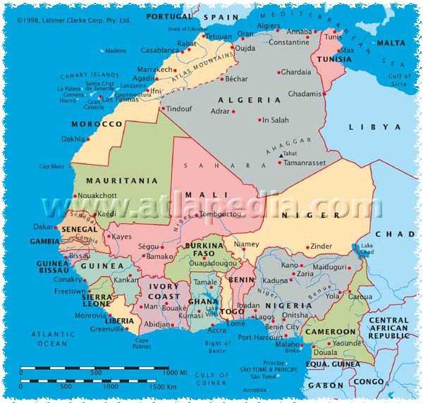 Map of Morocco Carte du Maroc Mapa de Marruecos Mappa di