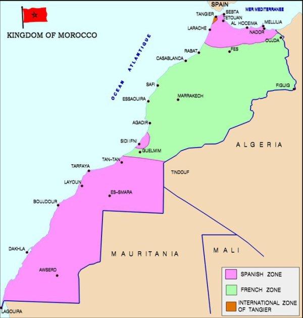Marocco Cartina Stradale.Mappa Di Marocco Marokko Politische Karte Stock Vektor Art Und Mehr Bilder Inakiandres
