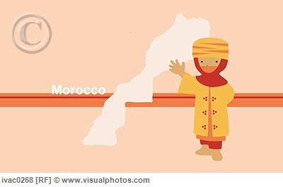 Map of Morocco - Carte du Maroc - Mapa de Marruecos -Mappa di Marocco - モロッコの地図 -מפת מרוקו - خريطة المغرب