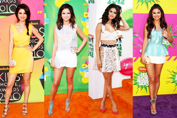 Quelle est la plus belle tenue de Selena portée pendant les Kids Choice Awards ?